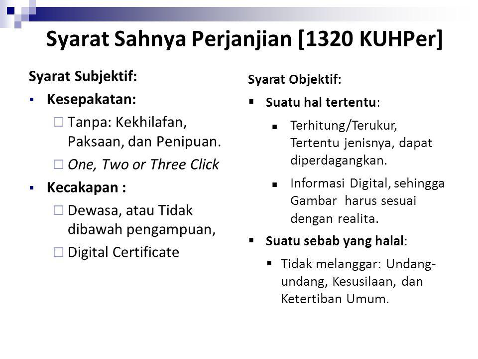 Syarat Sahnya Perjanjian [1320 KUHPer]